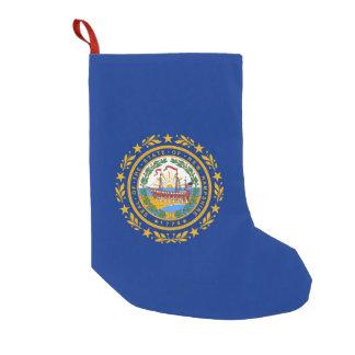 Meia De Natal Pequena Meias do Natal com a bandeira de New Hampshire