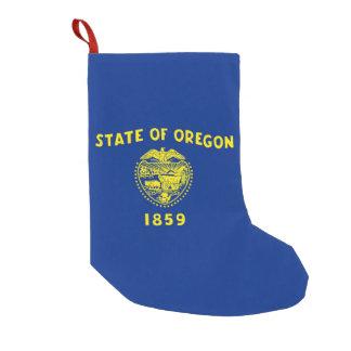 Meia De Natal Pequena Meias do Natal com a bandeira de Oregon