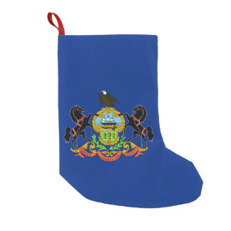 Meia De Natal Pequena Meias do Natal com a bandeira de Pensilvânia