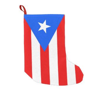 Meia De Natal Pequena Meias do Natal com a bandeira de Puerto Rico