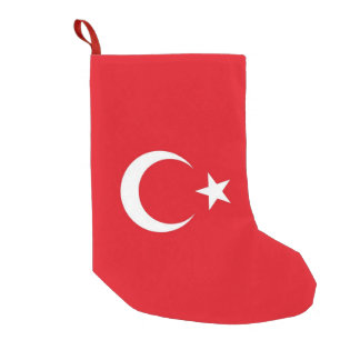 Meia De Natal Pequena Meias do Natal com a bandeira de Turquia