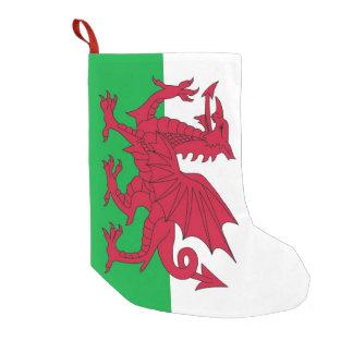 Meia De Natal Pequena Meias do Natal com a bandeira de Wales