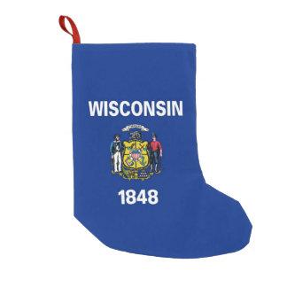 Meia De Natal Pequena Meias do Natal com a bandeira de Wisconsin