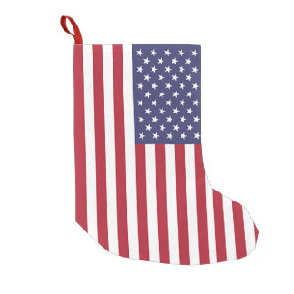Meia De Natal Pequena Meias do Natal com a bandeira dos EUA