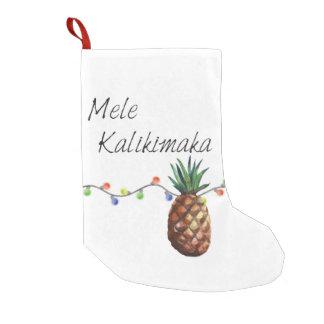 Meia De Natal Pequena Mele Kalikimaka - meia do Natal
