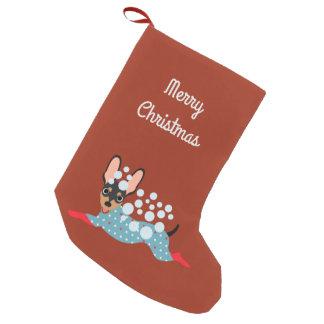 Meia De Natal Pequena Mini estoque brincalhão do Feliz Natal do Pin