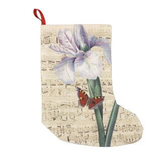 Meia De Natal Pequena música da íris e da borboleta