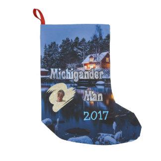Meia De Natal Pequena Natal do homem de Michigander!
