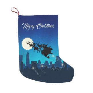 Meia De Natal Pequena Natal do trenó de Papai Noel - meia