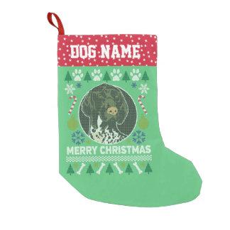 Meia De Natal Pequena Natal feio alemão do cão do ponteiro de cabelos