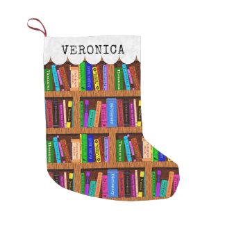 Meia De Natal Pequena Nome do costume do teste padrão do livro da