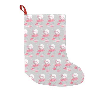 Meia De Natal Pequena O amor do flamingo telhou estoque unilateral