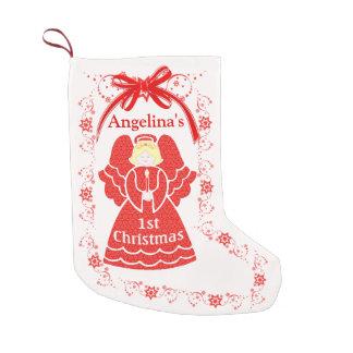 Meia De Natal Pequena ø Anjo do Natal para o nome do costume do bebé