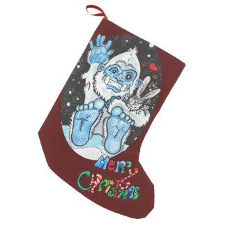 Meia De Natal Pequena O feriado abraça o Yeti!