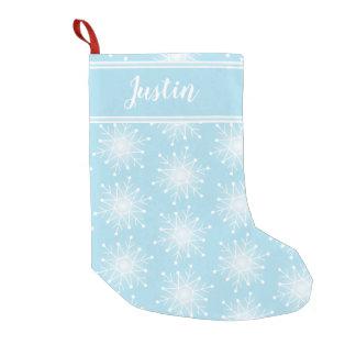 Meia De Natal Pequena O Natal azul personaliza a meia conhecida