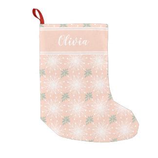 Meia De Natal Pequena O Natal cor-de-rosa personaliza a meia conhecida