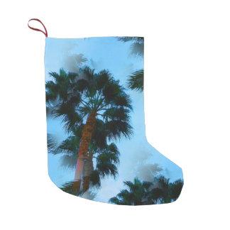 Meia De Natal Pequena Ornamento das palmeiras