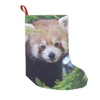 Meia De Natal Pequena Panda vermelha