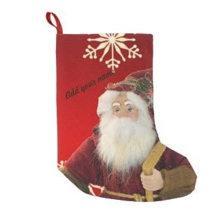 Meia De Natal Pequena Papai Noel