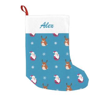 Meia De Natal Pequena Papai noel bonito do Natal & meia de Rudolph