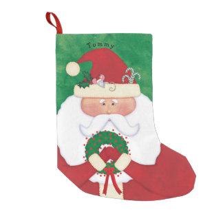 Meia De Natal Pequena Papai noel da Noite de Natal personalizado