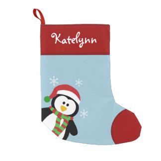 Meia De Natal Pequena Pinguim bonito meia personalizada do Natal