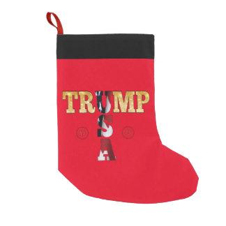 Meia De Natal Pequena Presidente Trunfo da cor 45 da bandeira do brilho