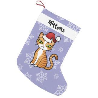 Meia De Natal Pequena Projete seu próprio gato dos desenhos animados (o