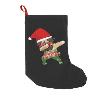 Meia De Natal Pequena Pug de toque ligeiro - meia feia da camisola do