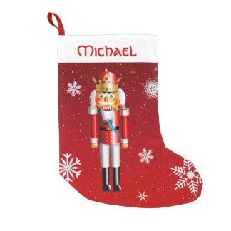 Meia De Natal Pequena Rei de noz do Nutcracker
