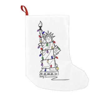 Meia De Natal Pequena Senhora Liberdade Natal Feriado Luz da estátua de