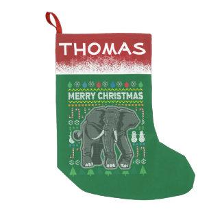 Meia De Natal Pequena Série feia dos animais selvagens da camisola do