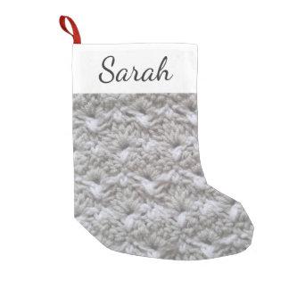 Meia De Natal Pequena Textura/nome do ponto de Shell do Crochet