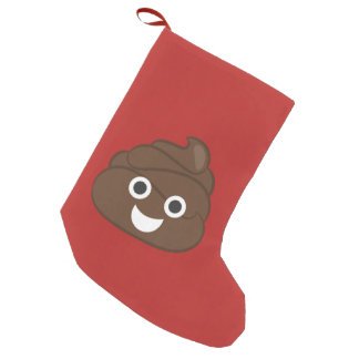 Meia De Natal Pequena Tombadilho parvo louco Emoji de Brown