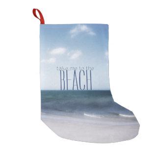 Meia De Natal Pequena Tome-me à praia