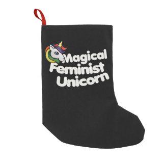 Meia De Natal Pequena unicórnio feminista mágico