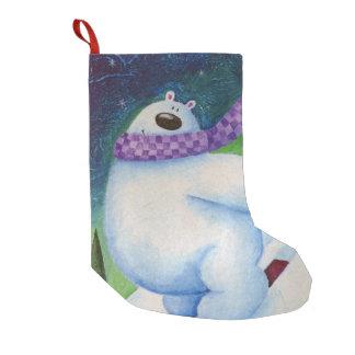 Meia De Natal Pequena Urso polar de esqui
