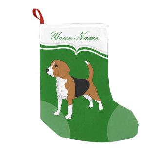 Meia De Natal Pequena Verde do Natal dos amantes do cão do lebreiro