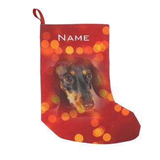 Meia De Natal Pequena Vermelho feito sob encomenda com as meias da foto