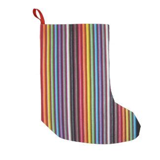 Meia De Natal Pequena Vertical do cabo de fita do arco-íris