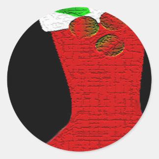 Meia do Natal Adesivo
