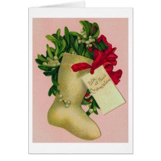Meia do Natal - cartões de Natal