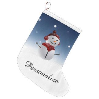 Meia do Natal do boneco de neve - nome Bota De Natal Grande
