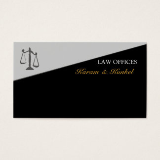 Meia escala colorida geométrica de justiça legal cartão de visitas