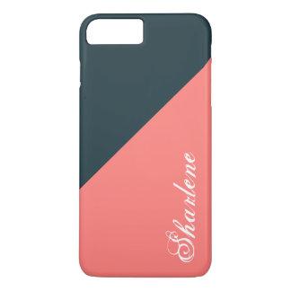 Meia-noite coral capa iPhone 7 plus