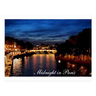 Meia-noite no cartão de Paris