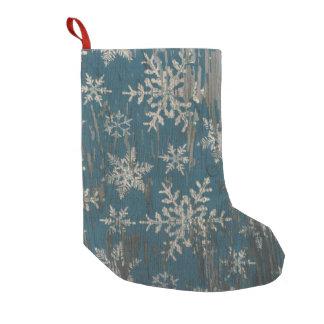 meia rústica do Natal do Natal do floco de neve Meia De Natal Pequena