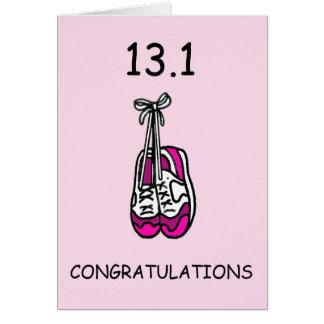 Meia senhora da maratona, felicitações cartão comemorativo