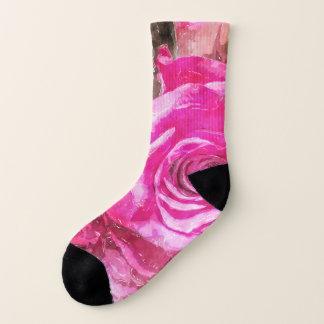 Meias bywhacky dos rosa do Watercolour cor-de-rosa