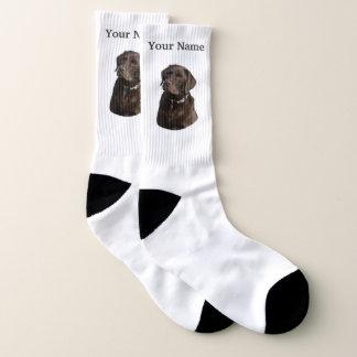 Meias Cão de Labrador do chocolate